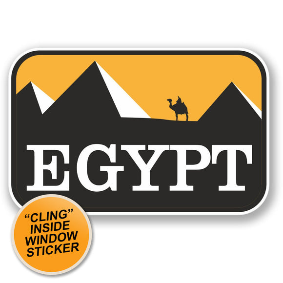 2 x Egypt WINDOW CLING STICKER Car Van Campervan Glass #4351