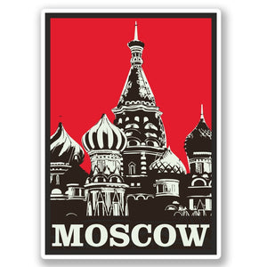 2 x Moscow Russia Vinyl Sticker #4352