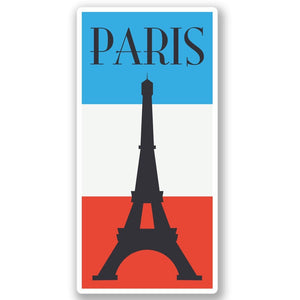 2 x Paris France Vinyl Sticker #4353