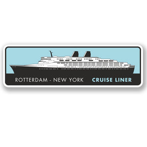 2 x Rotterdam New York Cruise Liner Vinyl Sticker #4354