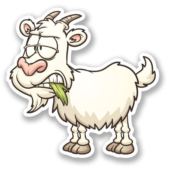 2 x Horned Goat Vinyl Sticker #4355