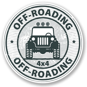 2 x Off-Roading 4x4 Vinyl Sticker #4356