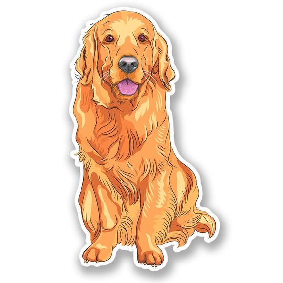 2 x Golden Labrador Dog Vinyl Sticker #4359