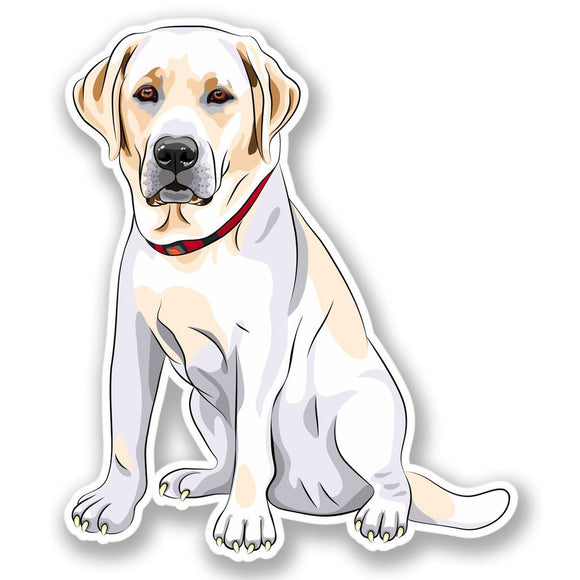 2 x Labrador Dog Vinyl Sticker #4363