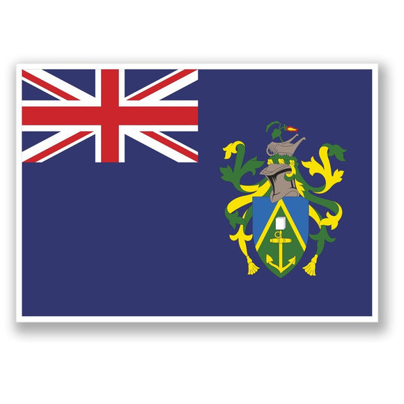 2 x Pitcairn Islands Vinyl Sticker #4369