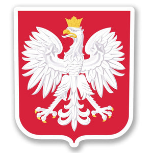 2 x Poland Polska Vinyl Sticker #4372