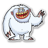 2 x Snow Yeti Vinyl Sticker #4378
