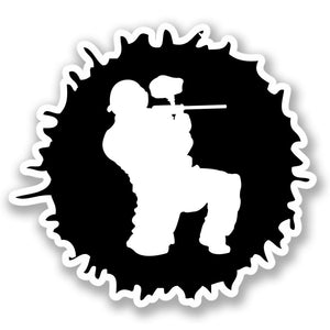 2 x Paintball Vinyl Sticker #4379