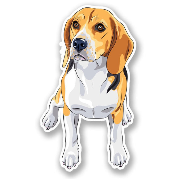 2 x Beagle Dog Vinyl Sticker #4384