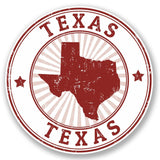 2 x Texas USA Vinyl Sticker #4385