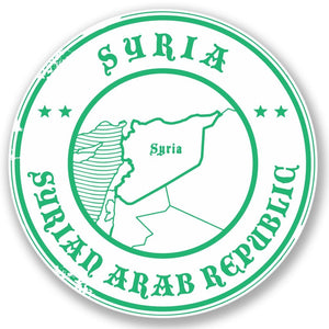 2 x Syria Vinyl Sticker #4387