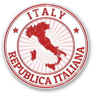 2 x Italy Italiana Vinyl Sticker #4391