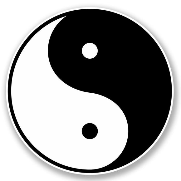 2 x Chinese Yin Yang Vinyl Sticker #4396