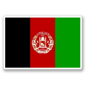 2 x Afghanistan Flag Vinyl Sticker #4400