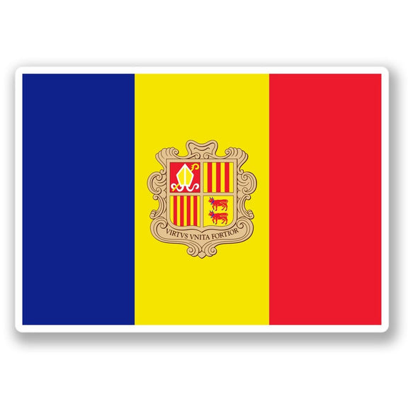 2 x Andorra Flag Vinyl Sticker #4403
