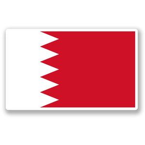 2 x Bahrain Flag Vinyl Sticker #4412