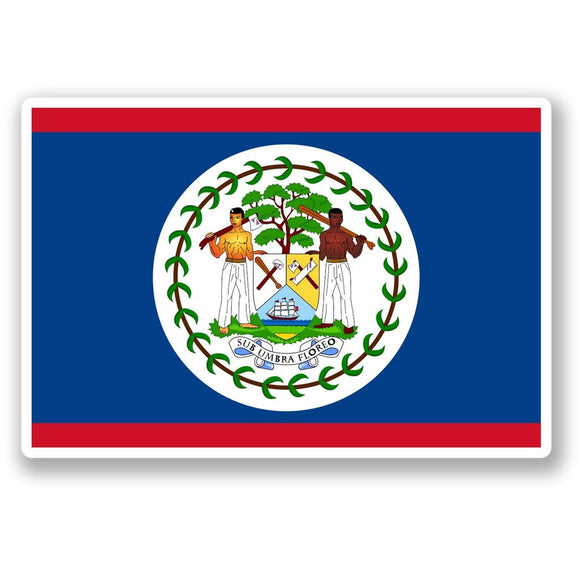 2 x Belize Flag Vinyl Sticker #4417