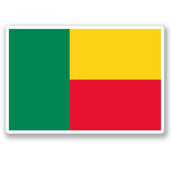 2 x Benin Flag Vinyl Sticker #4418