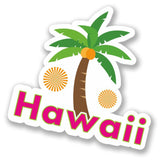 2 x Hawaii Palm Tree Vinyl Sticker #4425