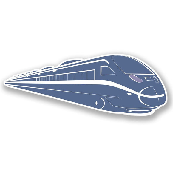 2 x Modern Train Vinyl Sticker #4446