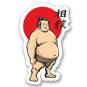 2 x Sumo Wrestler Vinyl Sticker #4452