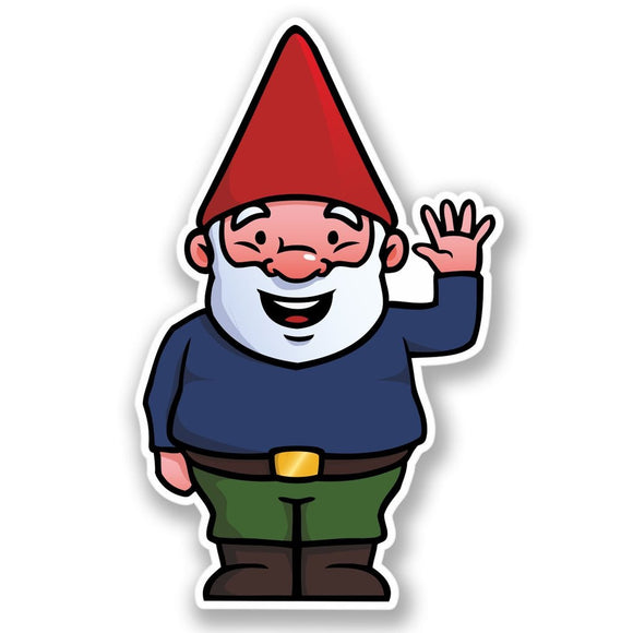 2 x Jolly Gnome Vinyl Sticker #4453
