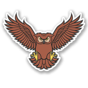 2 x Owl Vinyl Sticker #4458