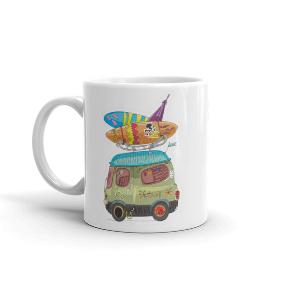 Surf Beach Bus High Quality 10oz Coffee Tea Mug #4462