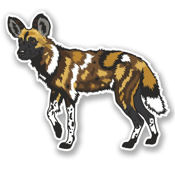 2 x Wild Dog Vinyl Sticker #4511