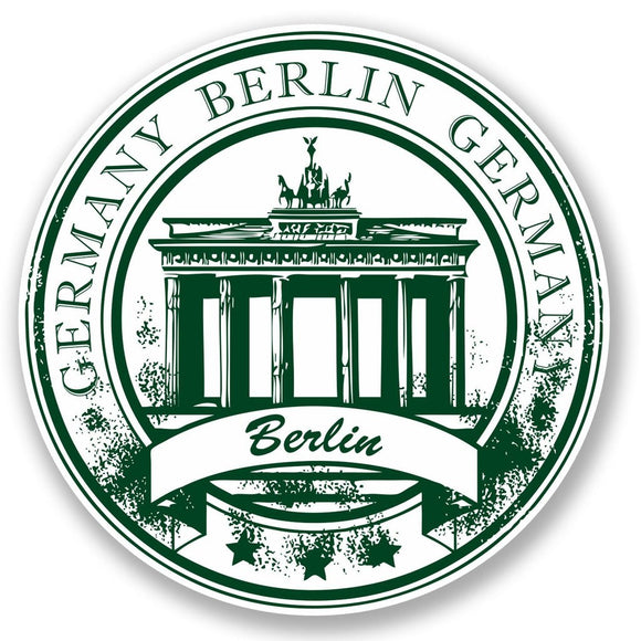 2 x Berlin Germany Vinyl Sticker #4522