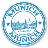 2 x Munich Germany Bavaria Vinyl Sticker #4584