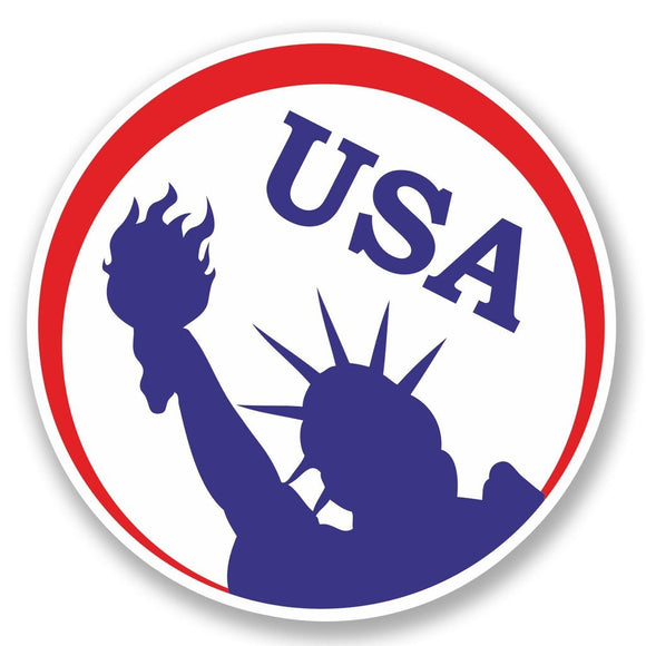 2 x USA Vinyl Sticker #4612