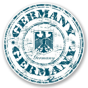 2 x Germany Vinyl Sticker #4620