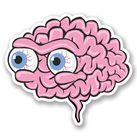 2 x Eyeball Brains Vinyl Sticker #4622
