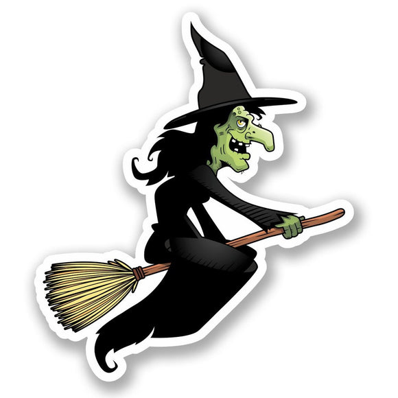2 x Witch Vinyl Sticker #4630