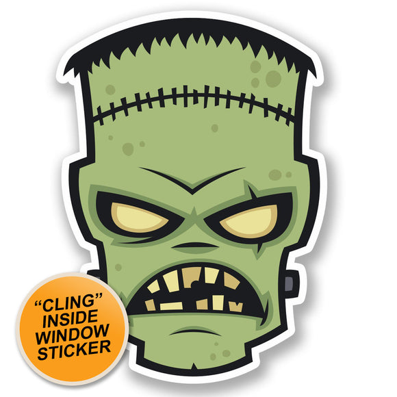 2 x Zombie WINDOW CLING STICKER Car Van Campervan Glass #4631