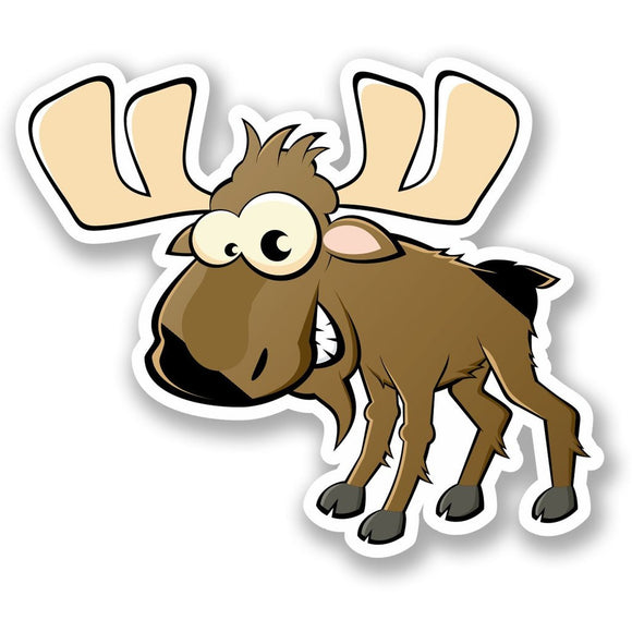 2 x Silly Moose Vinyl Sticker #4636
