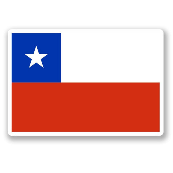 2 x Republic of Chile Flag Vinyl Sticker #4638
