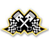 2 x Racing Piston Vinyl Sticker #4647