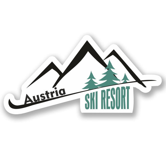 2 x Austria Ski Resort Vinyl Sticker #4660