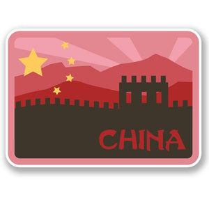 2 x China Luggage Travel Vinyl Sticker iPad Sign Fun #4685