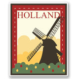 2 x Holland Luggage Travel Vinyl Sticker iPad Sign Fun #4688
