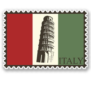 2 x Italy Luggage Travel Vinyl Sticker iPad Sign Fun #4689
