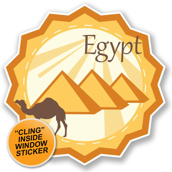 2 x Egypt WINDOW CLING STICKER Car Van Campervan Glass #4691
