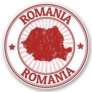 2 x Romania Vinyl Sticker #4697