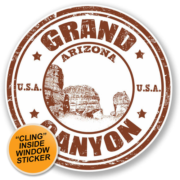 2 x Grand Canyon Arizona USA WINDOW CLING STICKER Car Van Campervan Glass #4704