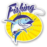 2 x Fishing Vinyl Sticker #4709