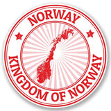 2 x Norway Vinyl Sticker #4717