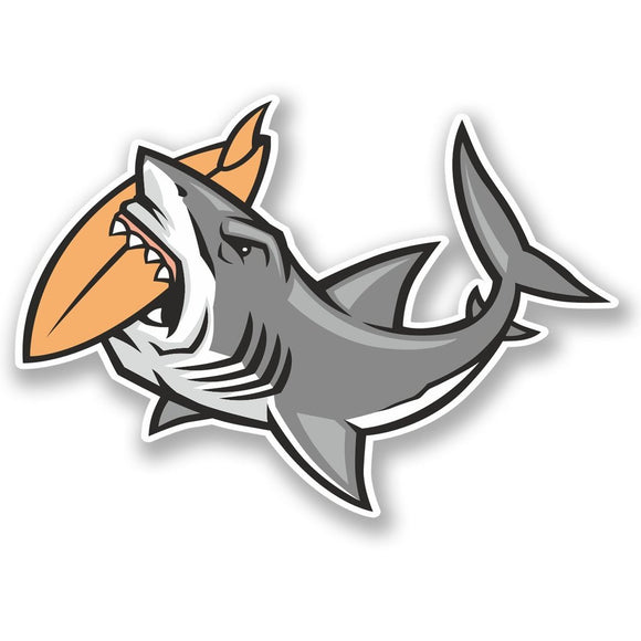 2 x Surf Shark Vinyl Sticker #4753
