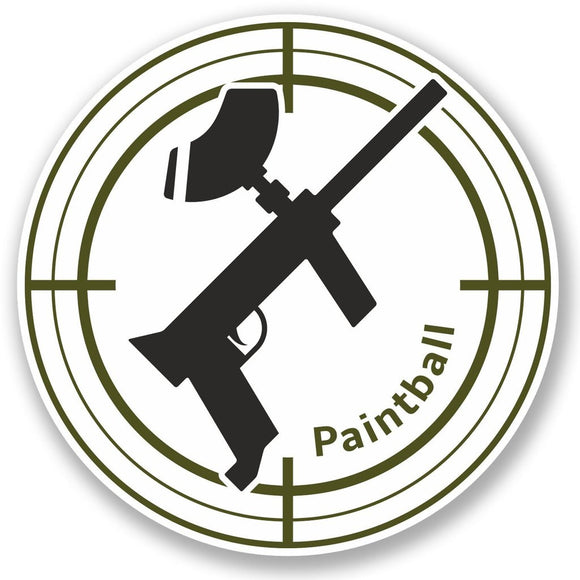 2 x Paintball Vinyl Sticker #4760